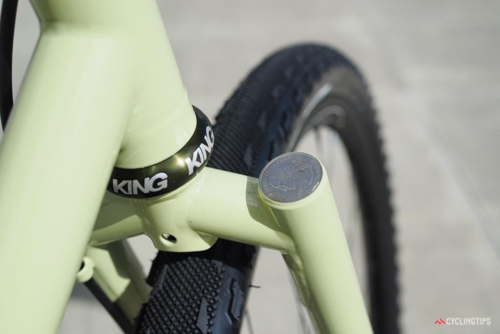 Sycip has long used coins to cap its segmented forks and seatstays.