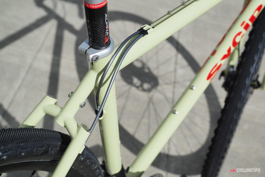 The segmented seatstays have long been a Sycip trademark.