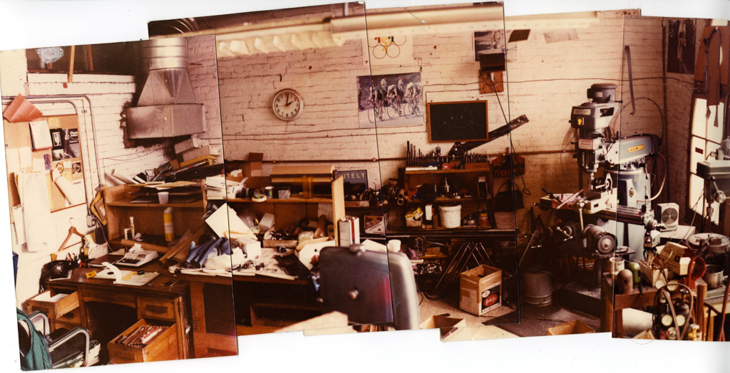 Chris King's first workshop. Photo: Chris King Precision Components.