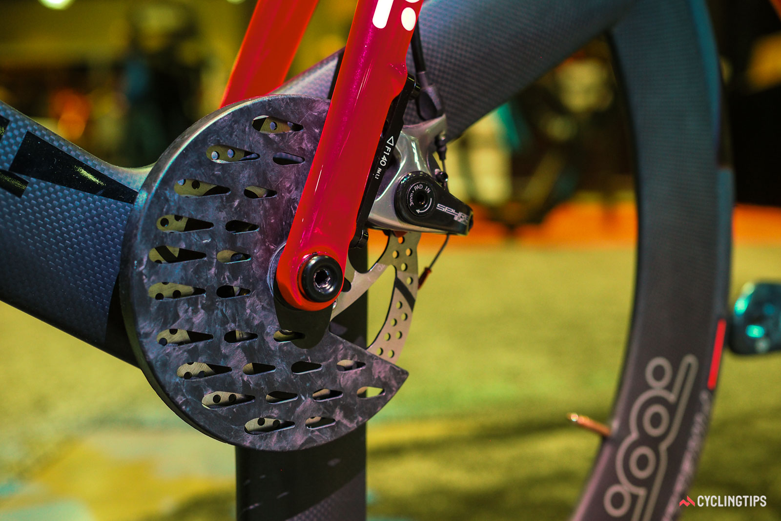 T-Red disc brake cover