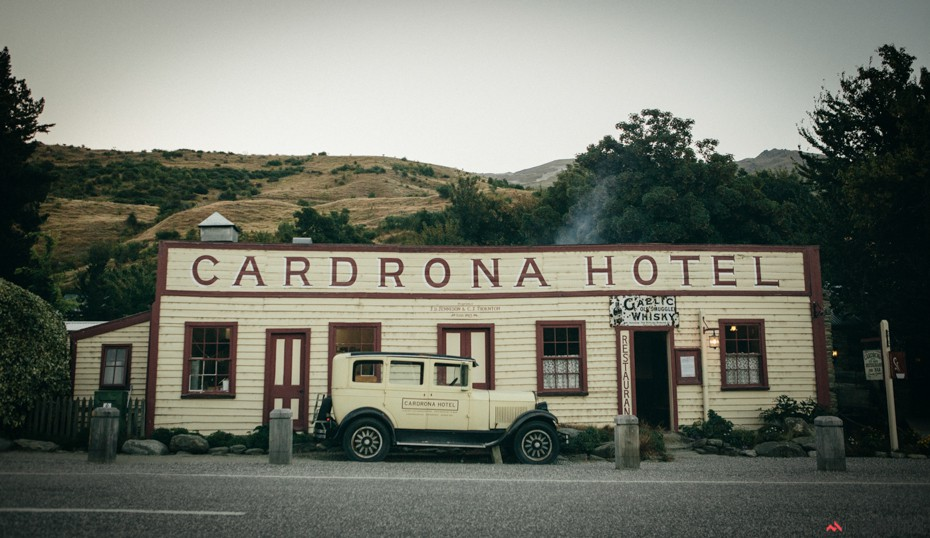 Cardrona Hotel. It doesn't look like much from the outside, but go inside and head out back. Best place on Earth.