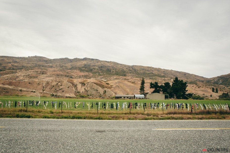 The Cardrona Bra Fence is a controversial tourist attraction between Wanaka and Queenstown where passers-by started to add bras to a rural fence, with the fence eventually growing into a famous tourists attraction with hundreds of individual bras attached.