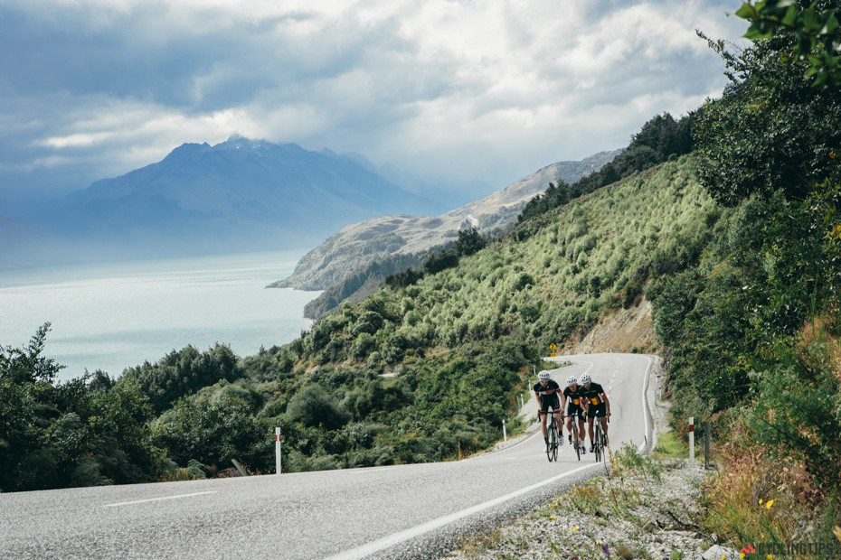 Riding back to Queenstown from Glenorchy.
