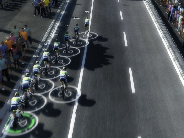 Orica-GreenEDGE's in-game TTT performance was about as far from the real-life version as possible.