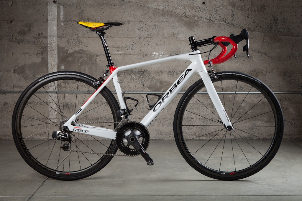 Orbea has been quick to create an eTap-specific version of its Orca frameset that will be available to buyers in 2016