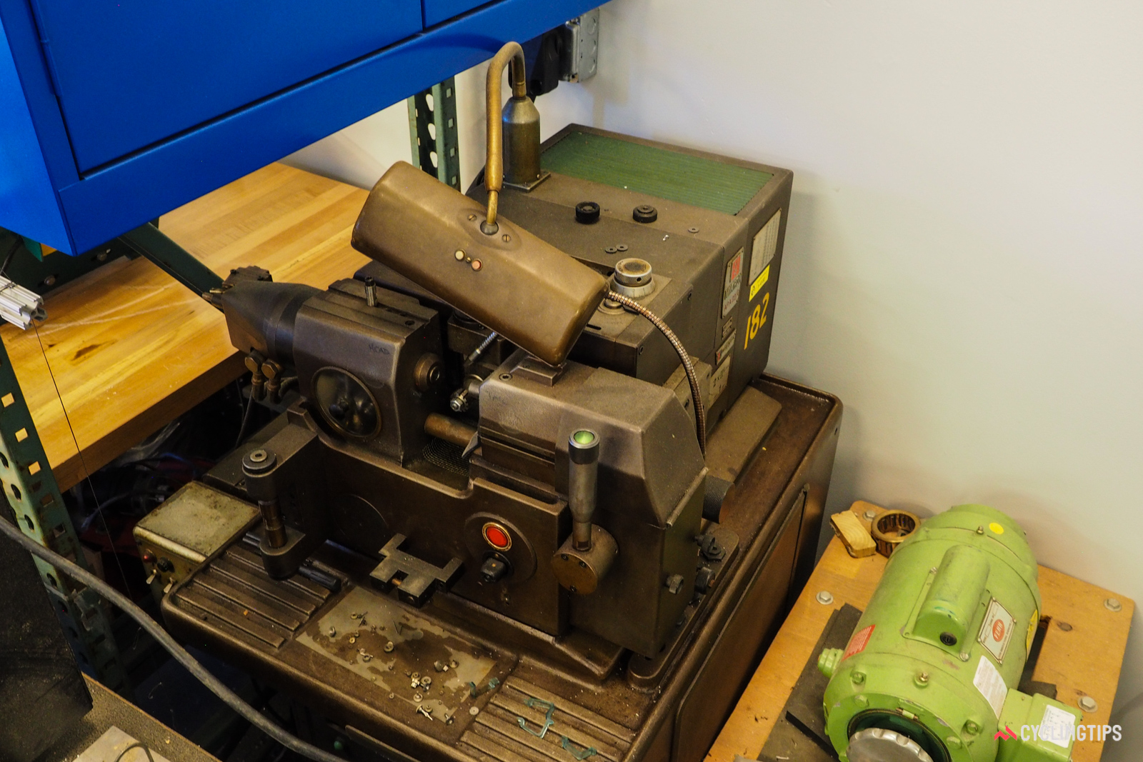 This decades-old machine is purpose-built for making small gears.
