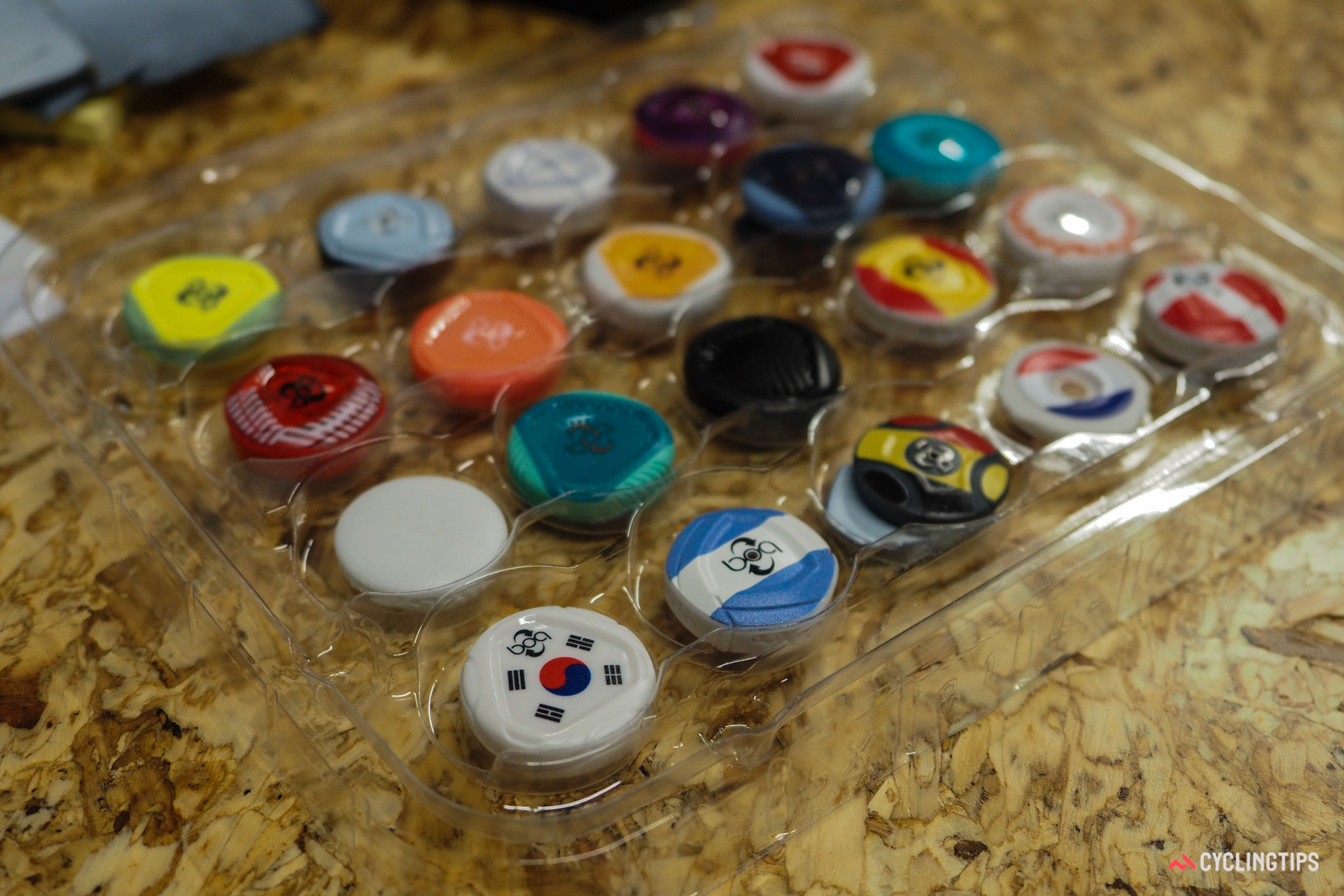 Boa is playing with custom printing dials. Shown here are various nationalities but just about anything is possible.