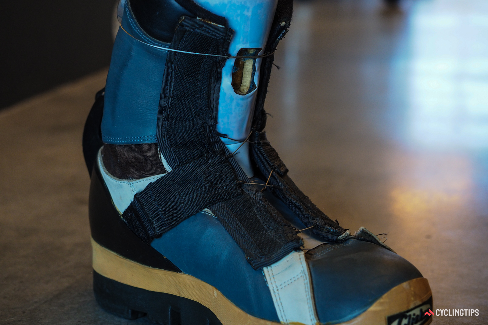 Company founder Gary Hammerslag retrofitted a pair of K2 Clicker boots to test his then-prototype Boa cable system. It wasn't pretty, but it worked.
