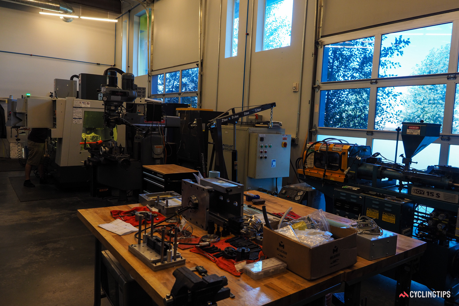 Boa today occupies an entire building in Denver, Colorado - and seeing as the company is bursting at the seams, it's already scouting a new location with more space. Among the many on-site capabilities is a full prototype shop.
