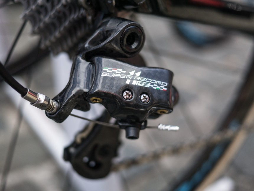 Campagnolo's new Super Record RS mechanical derailleur.
