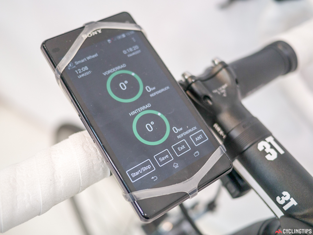 Lightweight has developed an app to work in conjunction with the smart wheel sensor mentioned in a previous post.