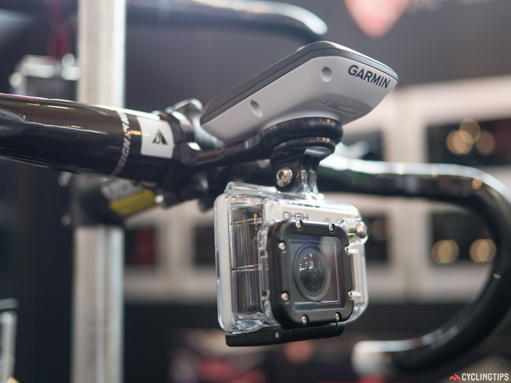 A Garmin and GoPro mount in one.