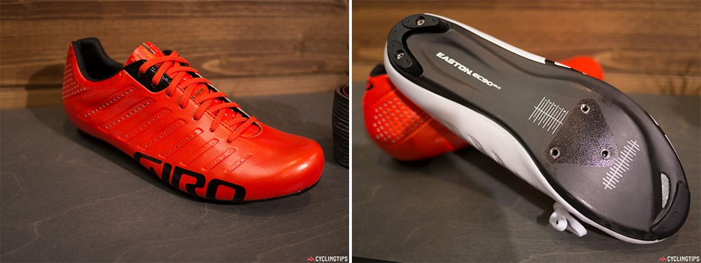 They were spotted at the Tour de France and for 2015 these laced Giro shoes be available to the public. The shoes, although available in white, also keep the bright colour trend alive.
