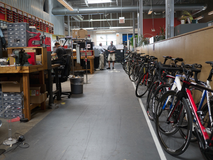 A glance of SRAM's Chicago office headquarters which was a far cry from what I expected