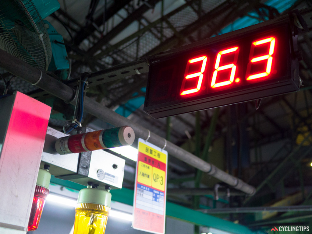 Exact times are taken on how long sectors of the assembly procedure take.