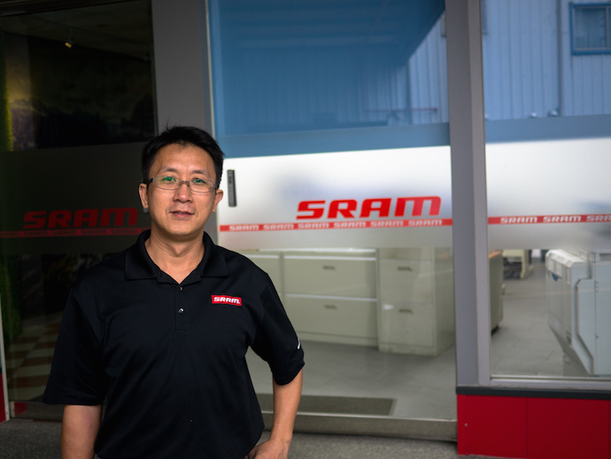 Jacky Lin, SRAM's vice factory manager and our host for the day