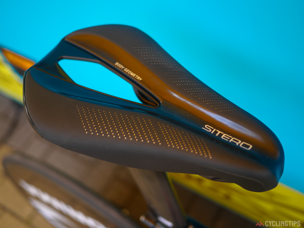 The Specialized Sitero saddle has become a firm favorite amongst sponsored riders on several of Specialized's teams.