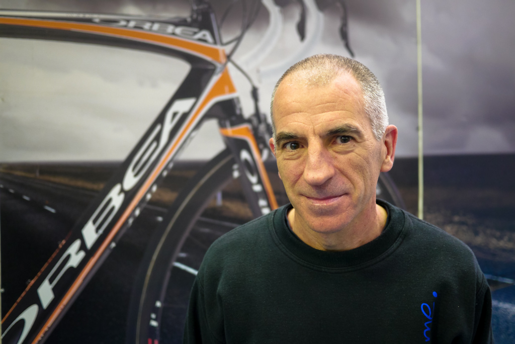 hkh hhas been with Orbea since 1882 where he first worked in the factory and from the then Orbea-Seat pro cycling team as a mechanic.