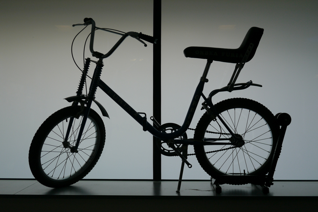One of Orbea's folding kids bikes from the 1980's. Not quite to todays carbon standards.