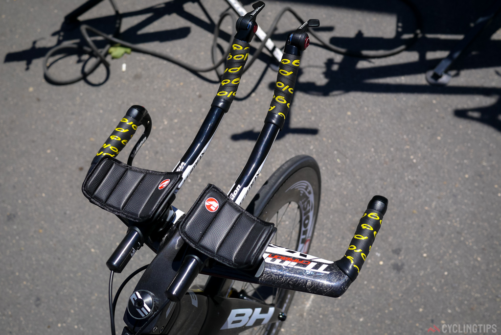 Vision also supply the bars as well as the groupset for the time trial bikes.