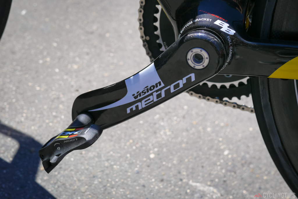 the non-drive side of the Vision Metron crankset.
