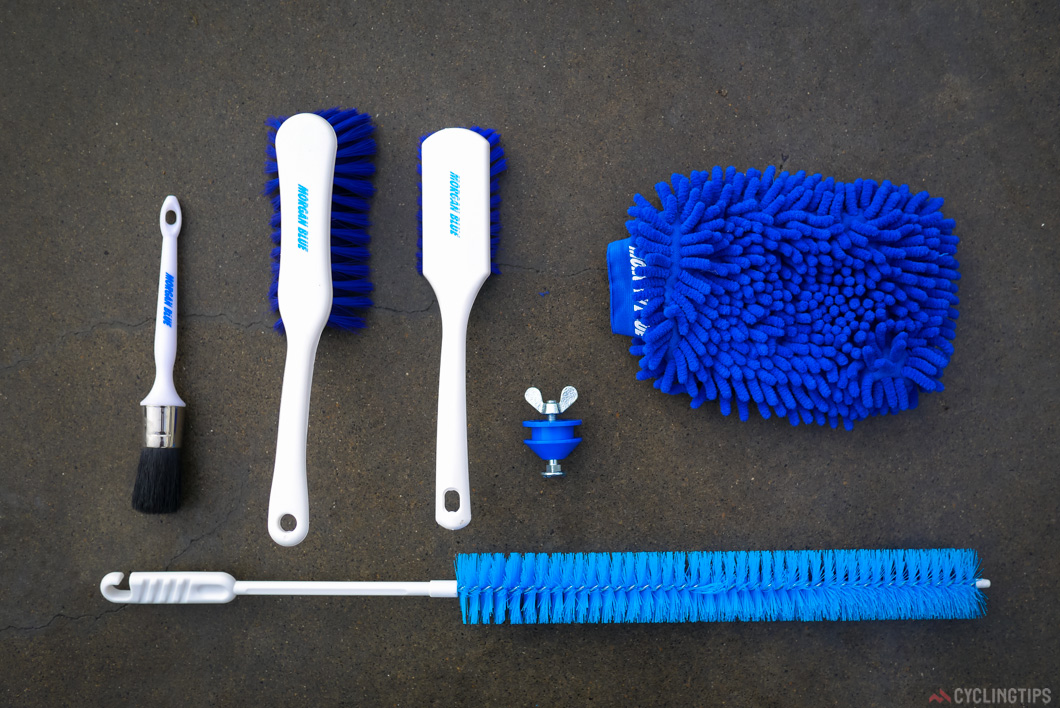 Morgan Blue cleaning brushes