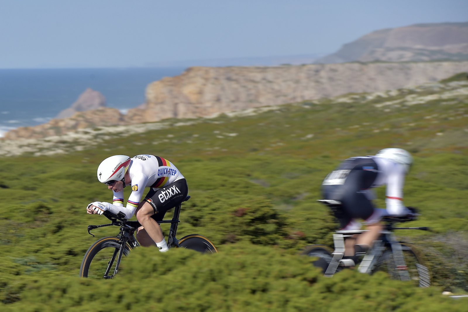 """Peter De Voecht, Belgium. """"MARTIN Tony (GER) Rider of ETIXX - QUICK STEP in action during stage 3 of the 42nd Tour of Algarve cycling race, an individual time trial of 18km, with start and finish in Sagres on February 19, 2016 in Sagres, Portugal."""" Professional. @peterdevoecht"""