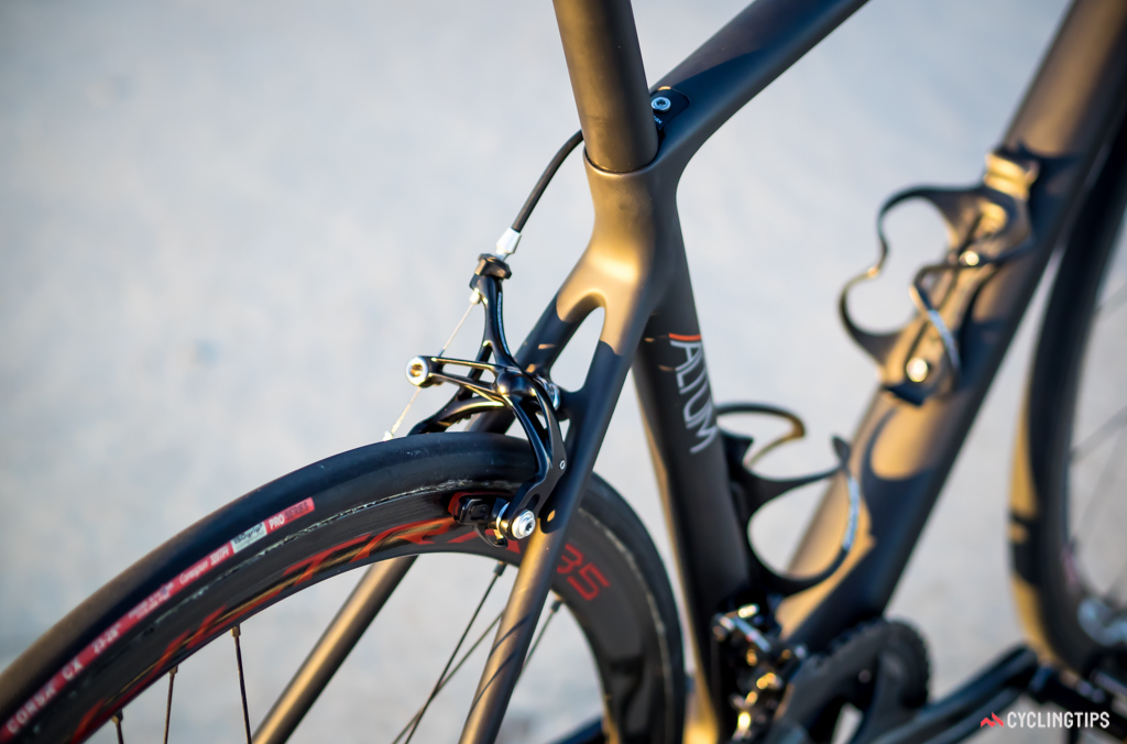 The Altum has some very clean lines that add to the sculptured finish of the bike.