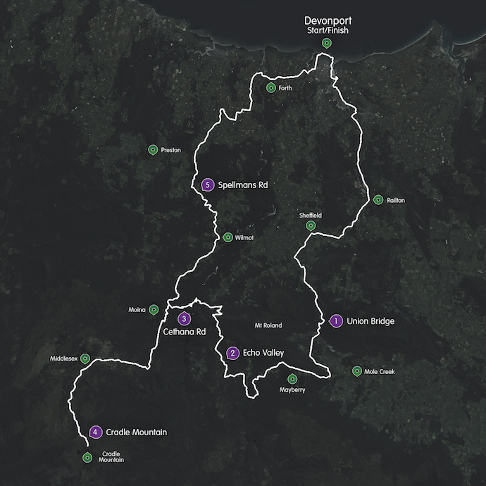 Peaks Challenge Cradle Mountain - Route Map (1)