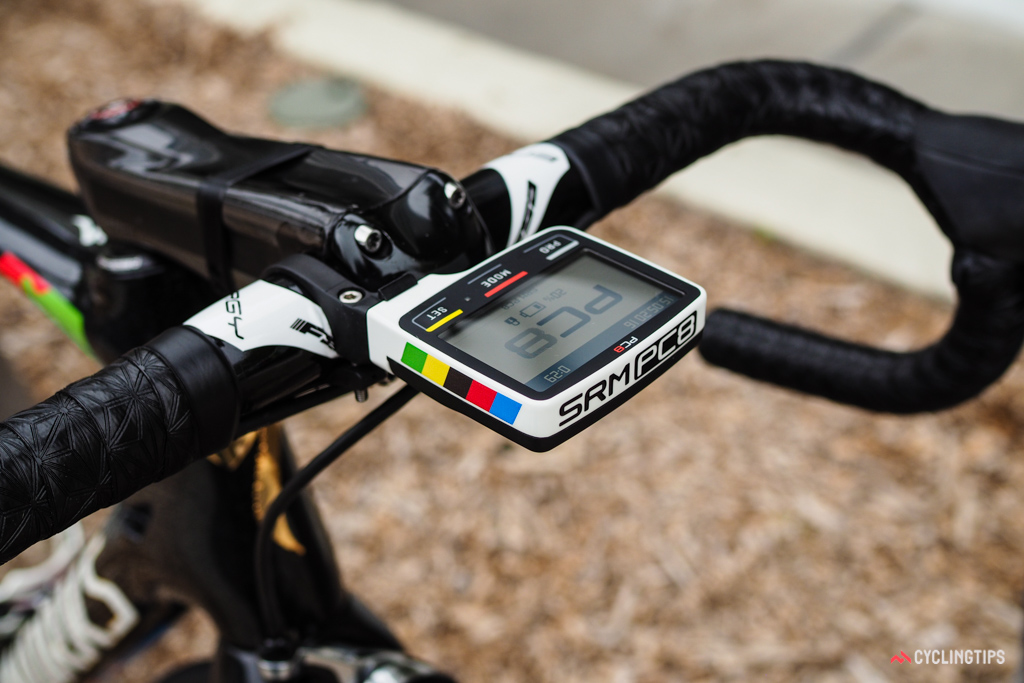 Even SRM gets into the game with a PC8 computer to match the rest of the bike.