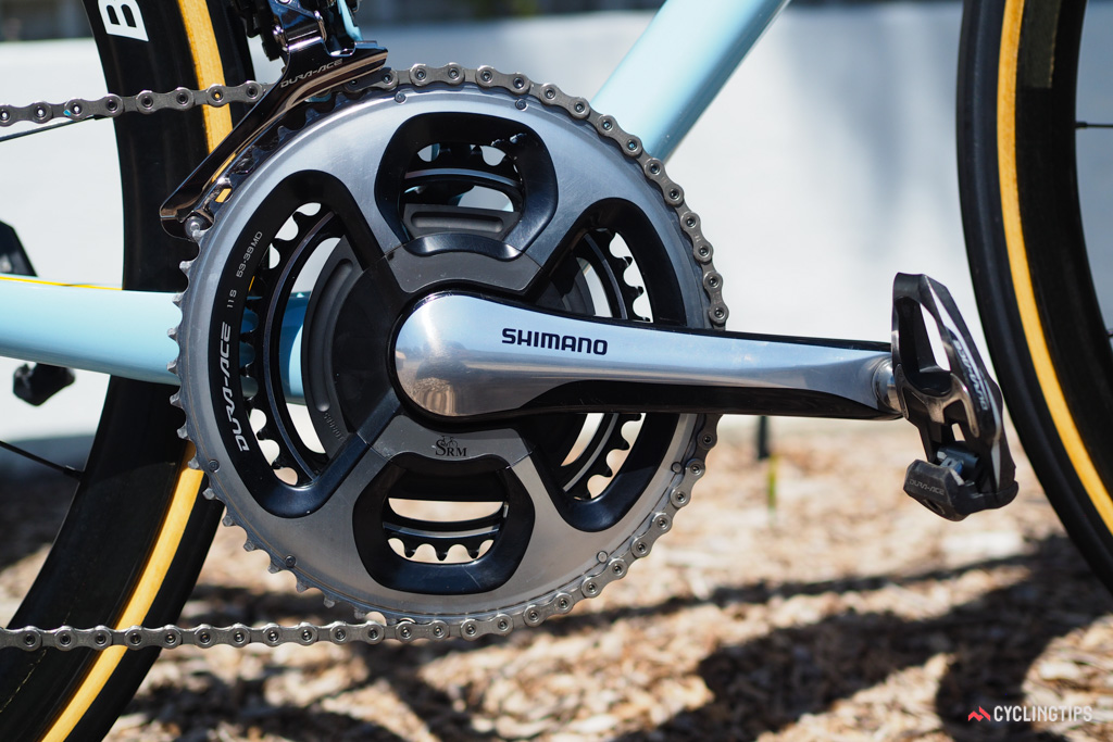 Stetina will record his power data with a crankset from SRM.