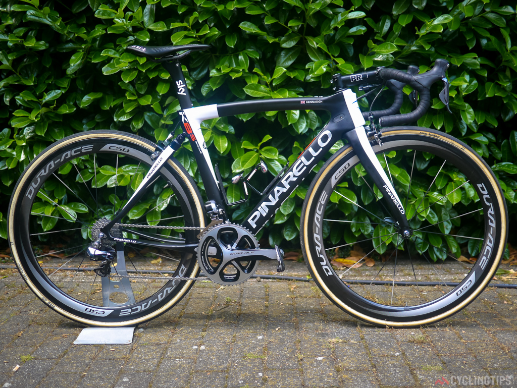 Kennaugh has not just a custom standard F8 roadbike to go with his national champs jersey but a custom K8s for stage four and the cobbles.