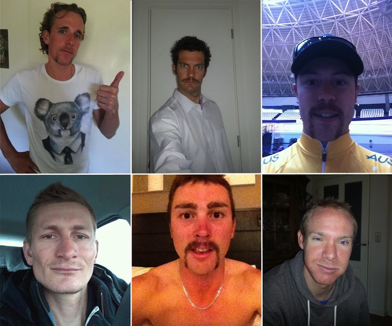 Some of the prominent Pro-Mos from last year: Koen de Kort, Greg Henderson, Shane Perkins, Andre Greipel, Leigh Howard and Jens Mouris.