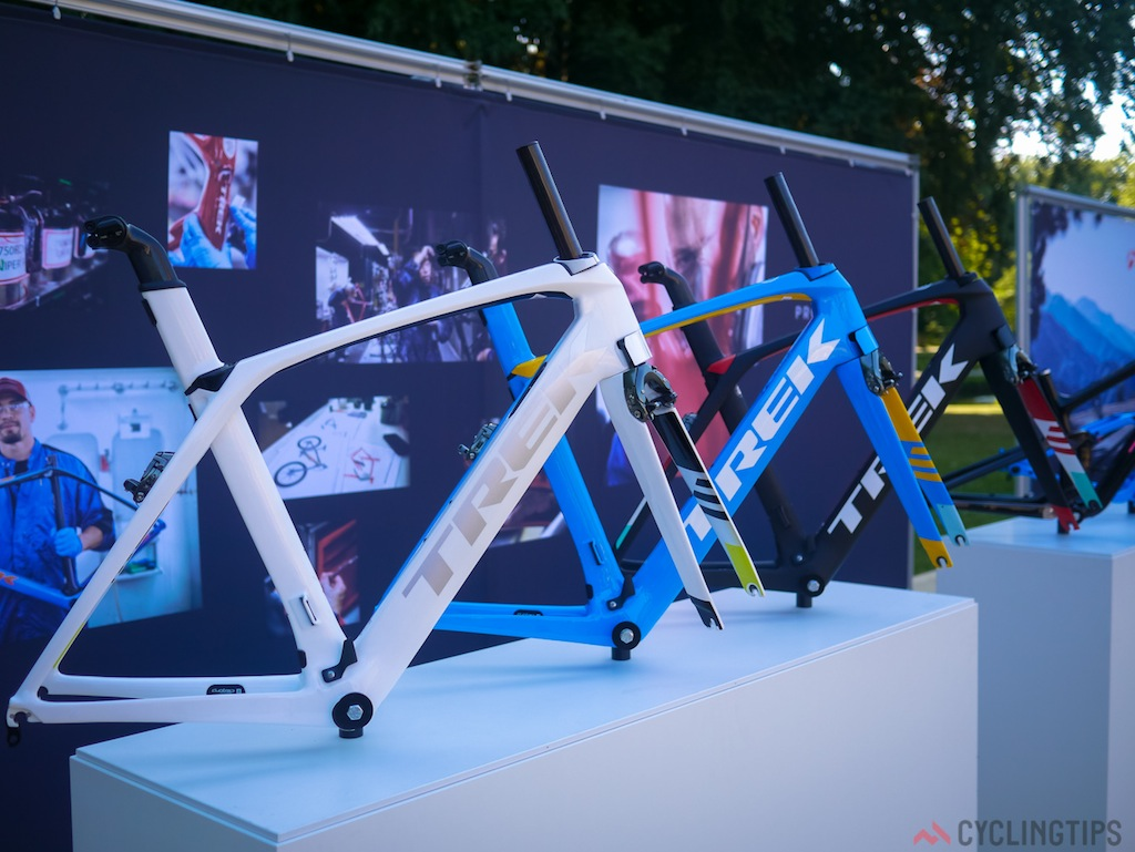 The new Madone is available in Trek's Project One custom program.