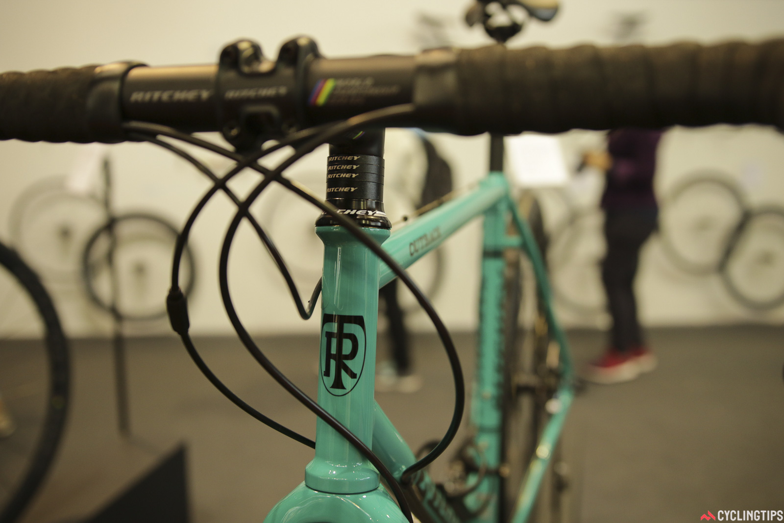 The Ritchey Outback offers room for up to a 40c tyres, a low bottom bracket height, thru-axles front and rear and a few classic touches. Photo: David Rome.