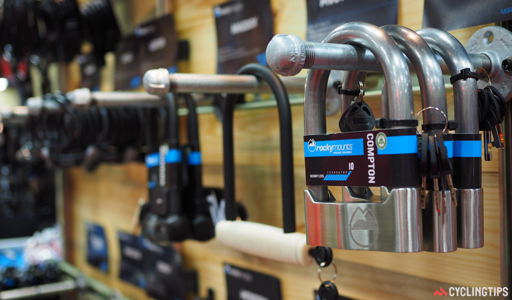RockyMounts has pulled a surprise move with a full line of bicycle locks. The Compton supposedly uses the thickest steel shackle on the market for ultimate security.