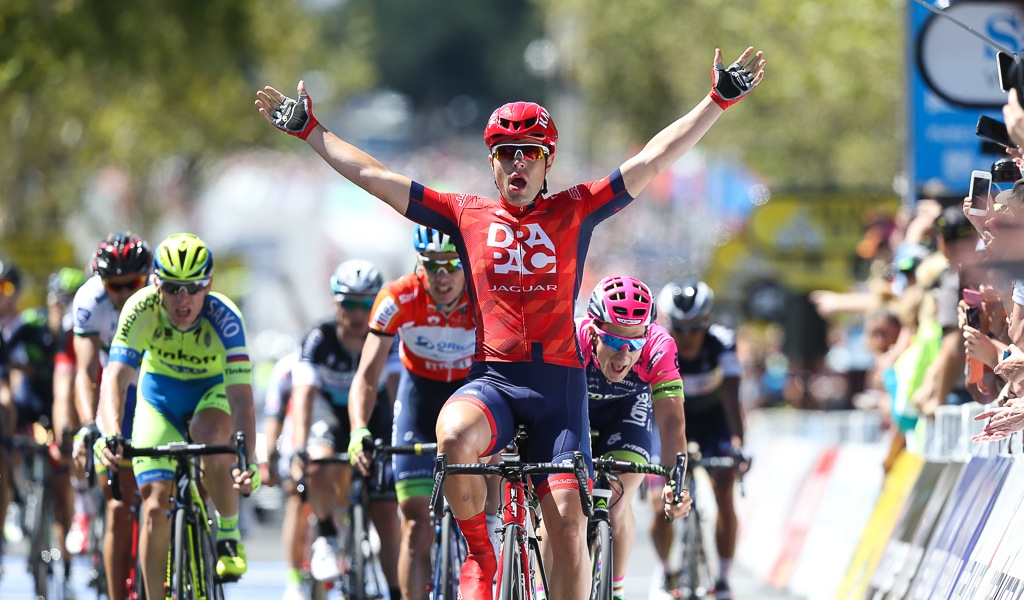 Wouter Wippert wins stage 6 of the 2015 Santos Tour Down Under, the team's biggest-ever win.