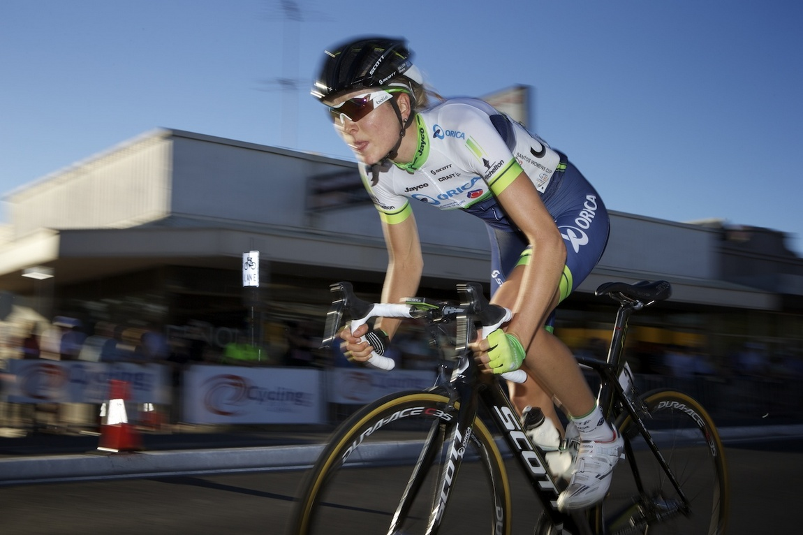 Shara Gillow (Orica-AIS) won stage 3 in Prospect after a solo break that started halfway through the race.