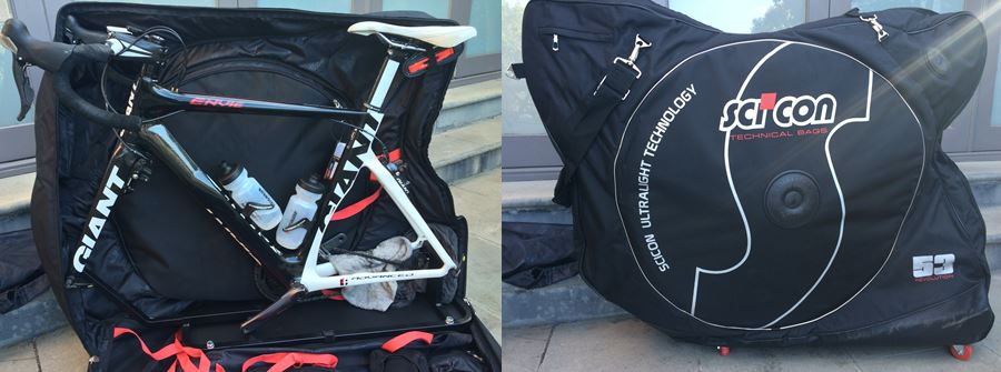 Scicon Aerocomfort 2.0. Never leave your bike at home again with this super easy-to-pack bag from Scicon. It's lighter, smaller and ten-time easier to handle than a hard case and it keep your trusty steed protected all the same. http://sciconbags.com/en/bike-bags/aerocomfort-2-0.html