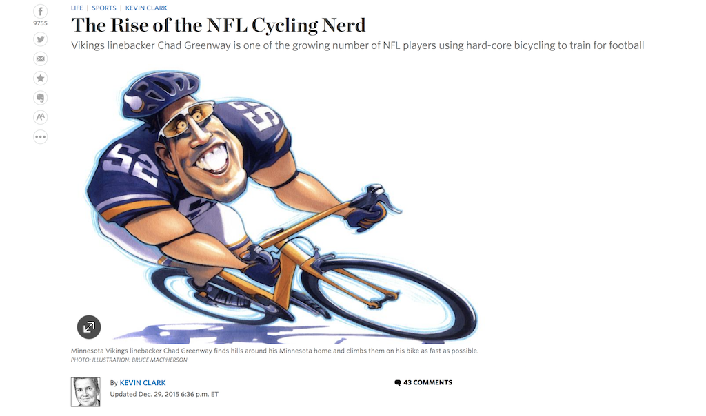 WSJ Rise of the NFL Cycling Nerd