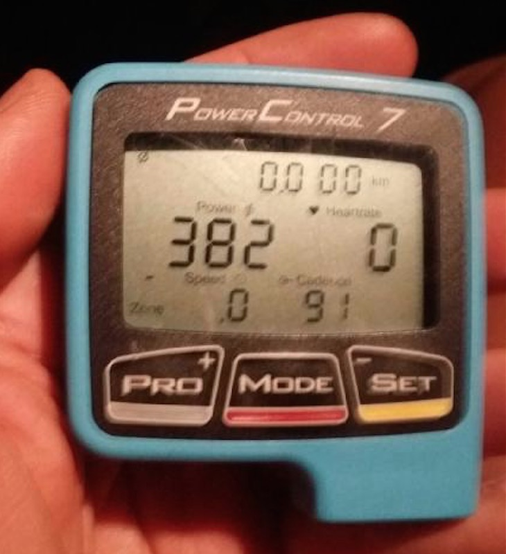 As predicted, Nick Bensley averaged 382 watts at 91rpm for the entire hour effort.