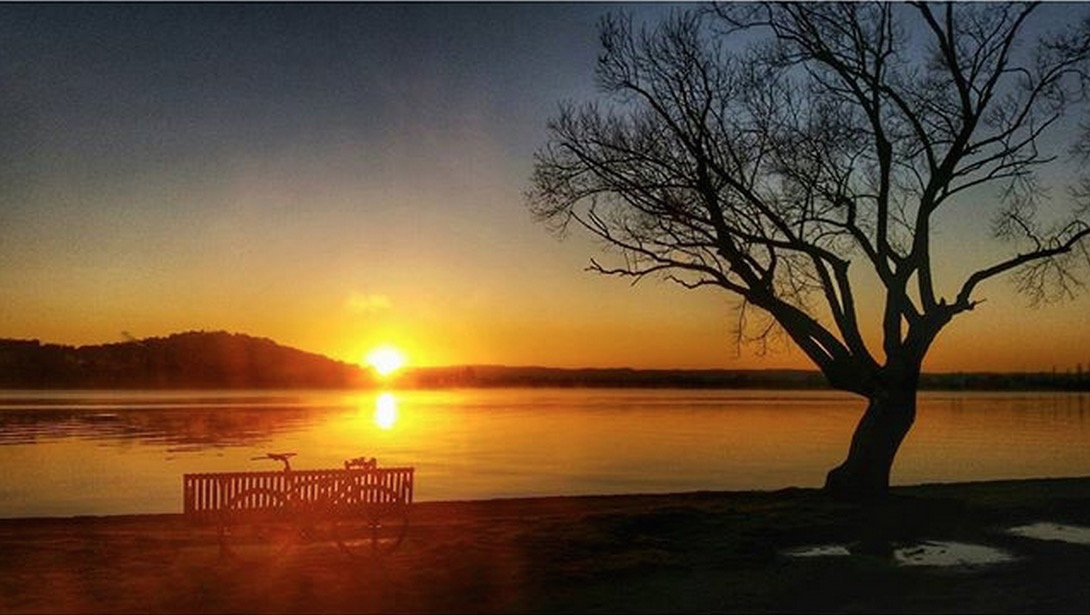"""""""What a perfect winter morning in Canberra today. Was it cold - yes - but it was also just so invigorating as well. So glad I was able to capture the first rays of golden light hitting the landscape. Why I ride - to witness priceless moments like these day after day after day!""""  - Bella Molloy"""