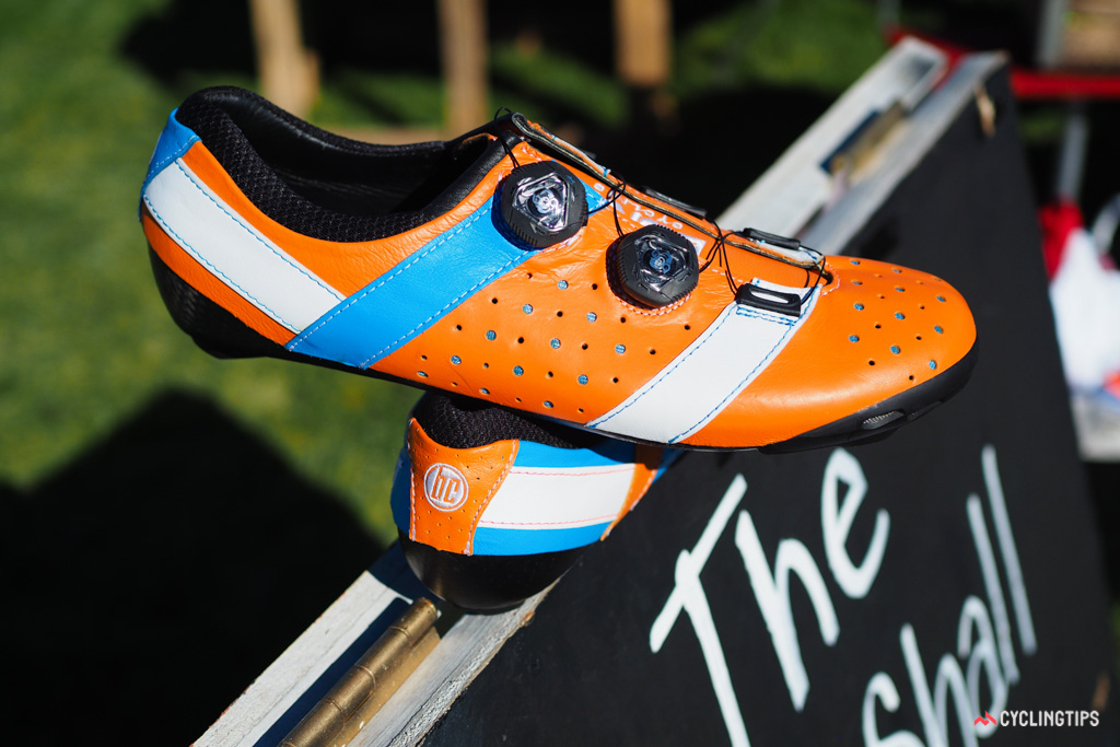 The new Bont Vaypor+ uses kangaroo leather on the outside and cowhide on the inside for a more luxurious feel than most synthetics.