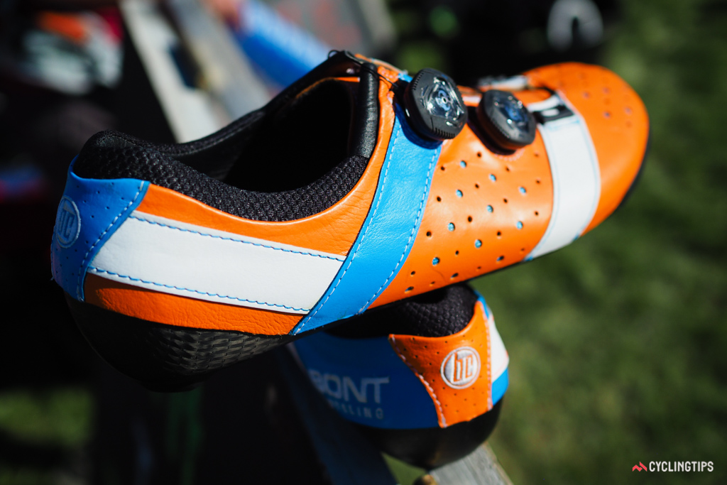 Although the new Vaypor+ makes liberal use of natural animal hides, underneath is the same ultra-stiff carbon fibre sole and wraparound, heat-mouldable upper as before.