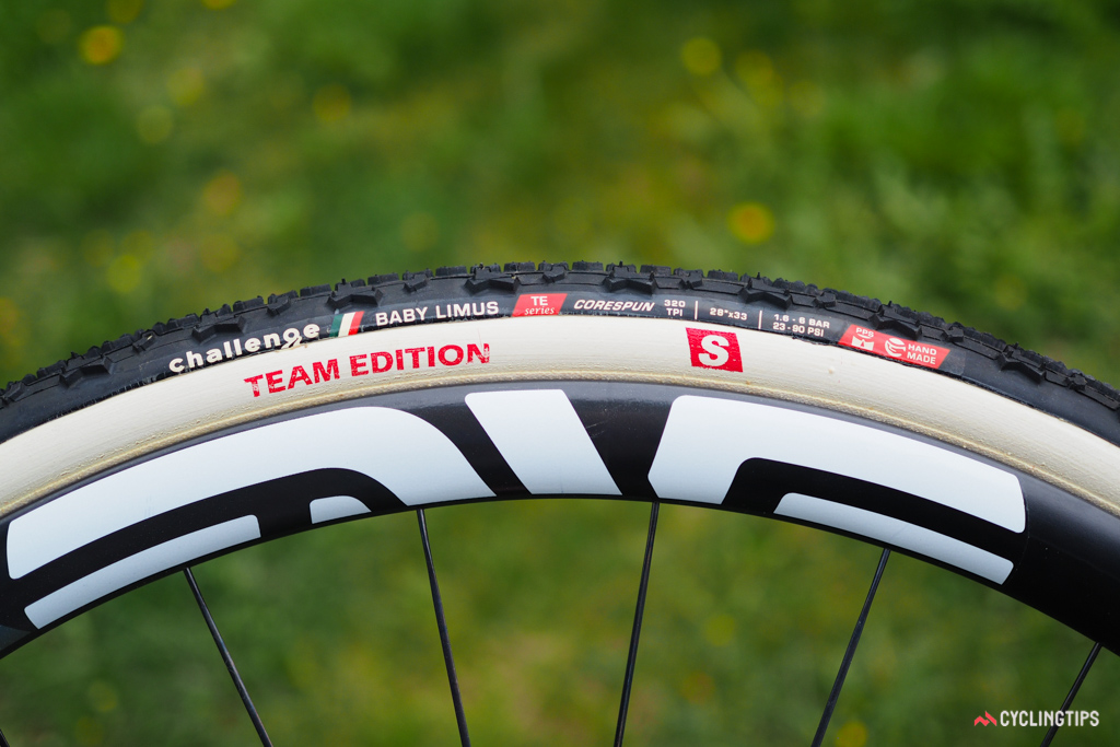 """Challenge's new Team Edition """"S"""" cyclocross tubulars feature a softer (but supposedly more durable) tread compound for better grip plus a thinner and more pliable sidewall treatment."""