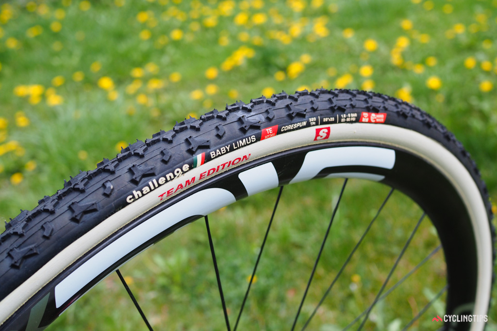 """Challenge will apply the """"S"""" treatment to all Team Edition tubulars moving forward, including the Limus, Baby Limus (shown), Grifo, Chicane, and the new sand-specific Dune."""