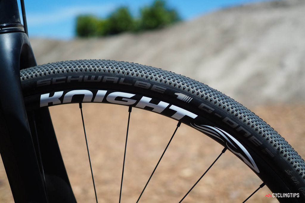 Knight Composites bills these as gravel wheels but the 22.5mm inner width and tubeless compatibility seem like a natural fit for cyclocross, too.