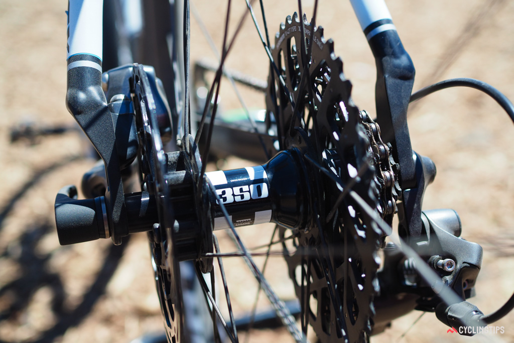 """The new Knight Composites 29"""" Gravel wheels are anchored by reliable DT Swiss hubs."""