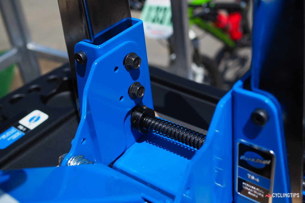 Construction on the new Park Tool TS-4 generally looks impressively stout.