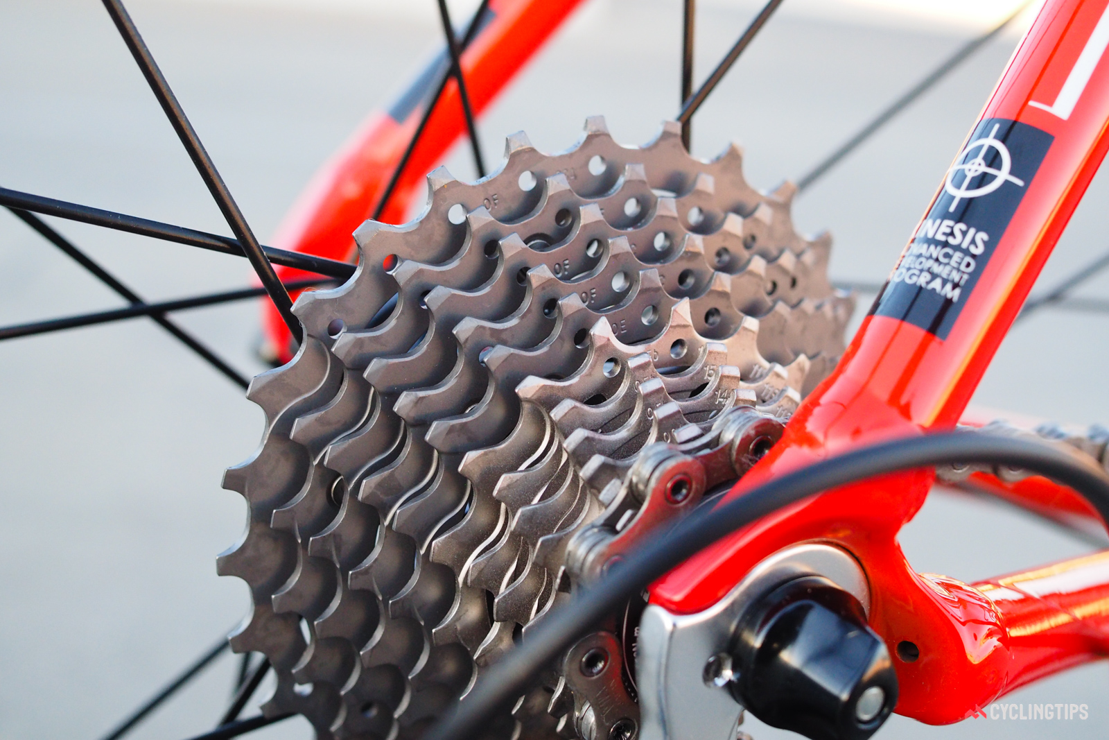 As before, the refreshed Dura-Ace 9100 cassette features a mix of steel and titanium cogs to help save weight. Tooth profiles have supposedly been revised yet again for even smoother shifting, although any improvement over previous editions is essentially unnoticeable.